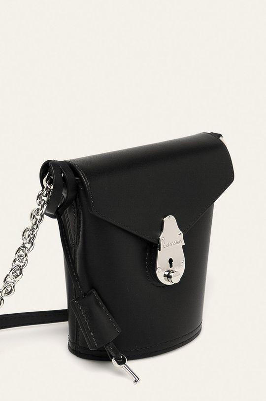 černá Calvin Klein - Kožená kabelka
