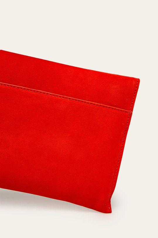 červená Patrizia Pepe - Kožená kabelka