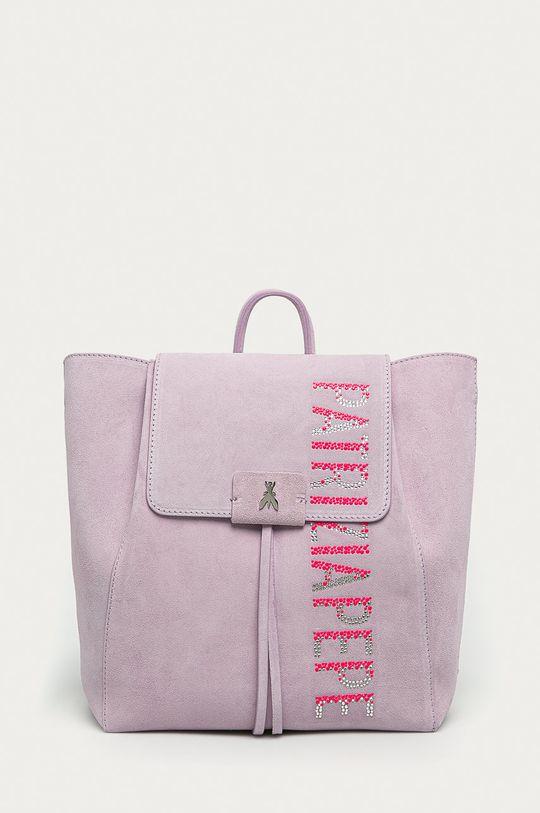 fialová Patrizia Pepe - Kožený ruksak Borsa Dámsky
