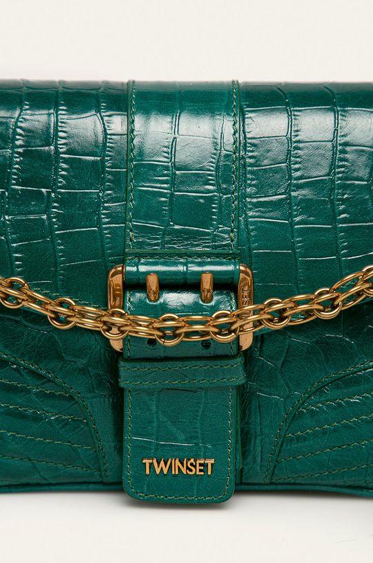 Twinset - Poseta de piele verde