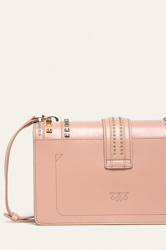 pastelově růžová Pinko - Kožená kabelka