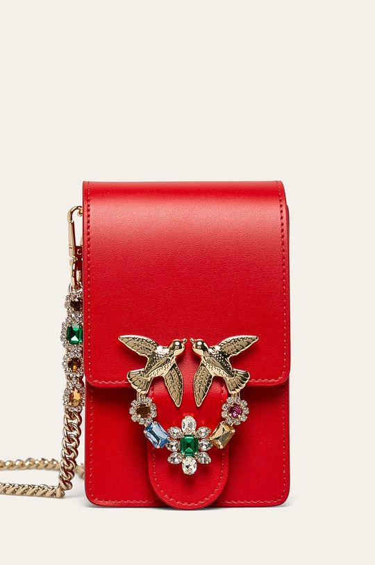 červená Pinko - Kožená kabelka Dámský