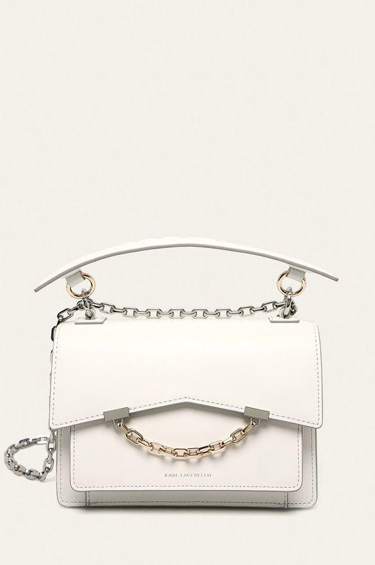 biela Karl Lagerfeld - Kožená kabelka Dámsky