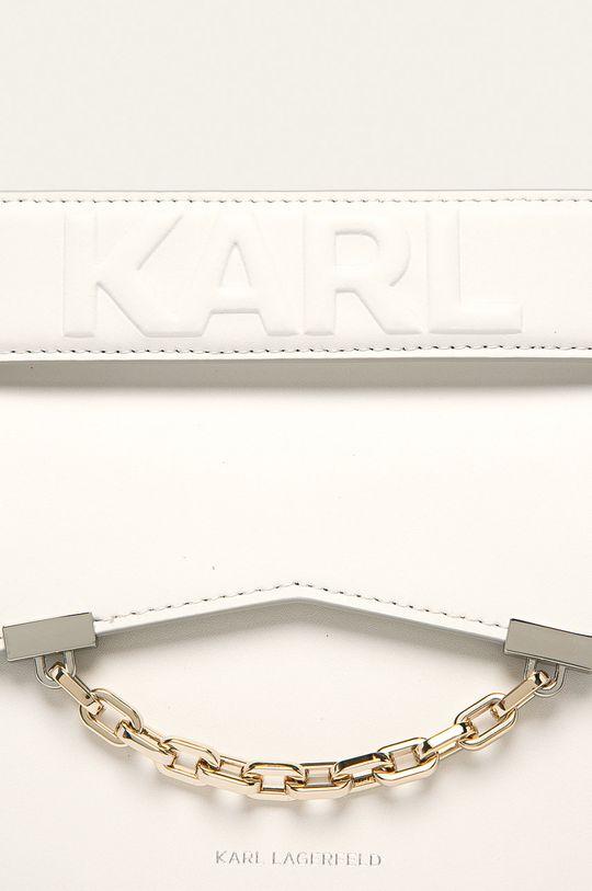 Karl Lagerfeld - Kožená kabelka biela