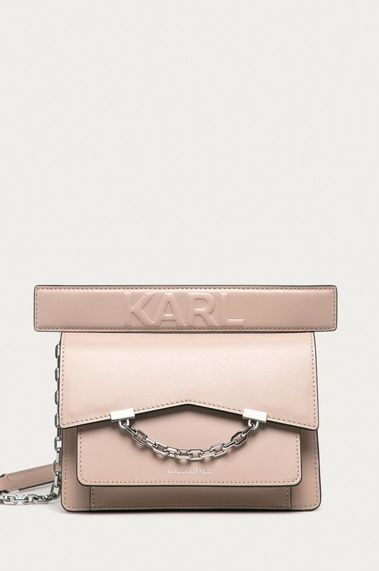 růžová Karl Lagerfeld - Kožená kabelka Dámský