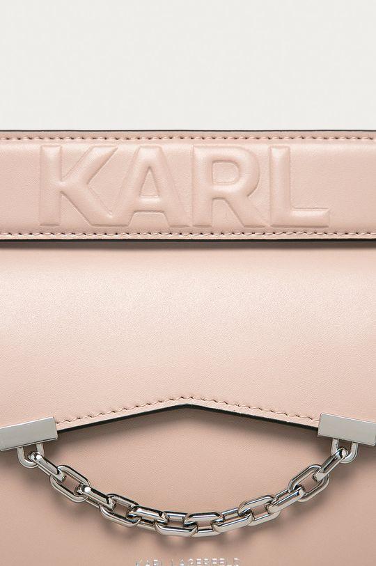 Karl Lagerfeld - Kožená kabelka růžová