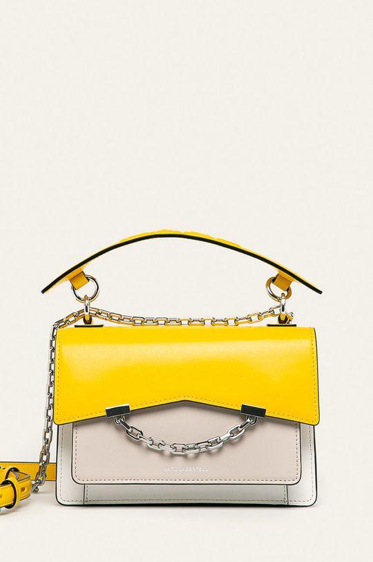 žlutá Karl Lagerfeld - Kožená kabelka Dámský