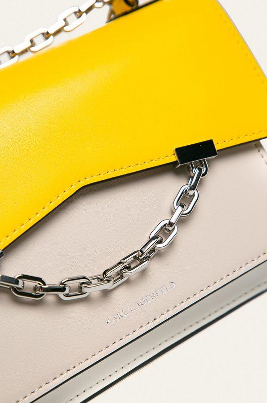 Karl Lagerfeld - Kožená kabelka žlutá