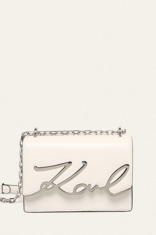 bílá Karl Lagerfeld - Kožená kabelka Dámský