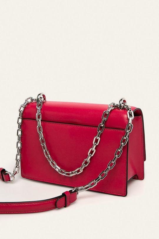 sýto ružová Karl Lagerfeld - Kožená kabelka