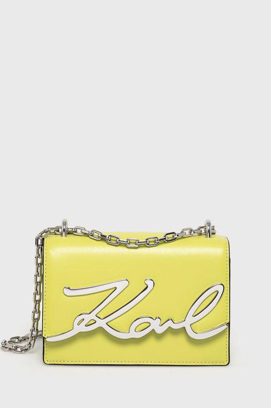 žlutě zelená Karl Lagerfeld - Kožená kabelka Dámský