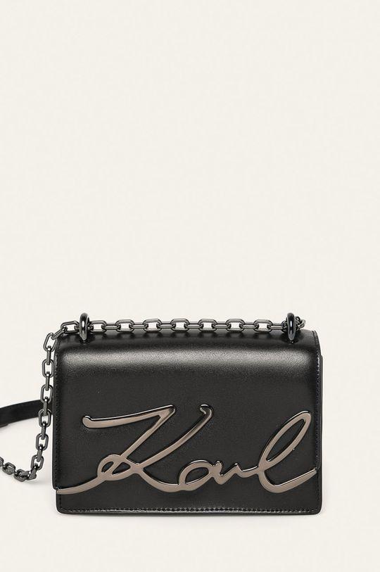 čierna Karl Lagerfeld - Kožená kabelka Dámsky