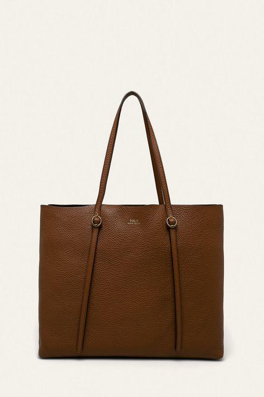 hnedá Polo Ralph Lauren - Kožená kabelka Dámsky