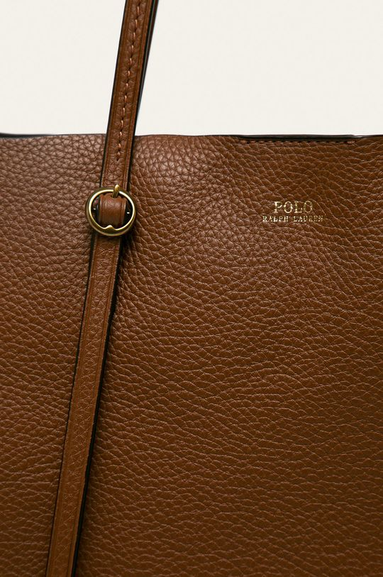 Polo Ralph Lauren - Kožená kabelka hnedá