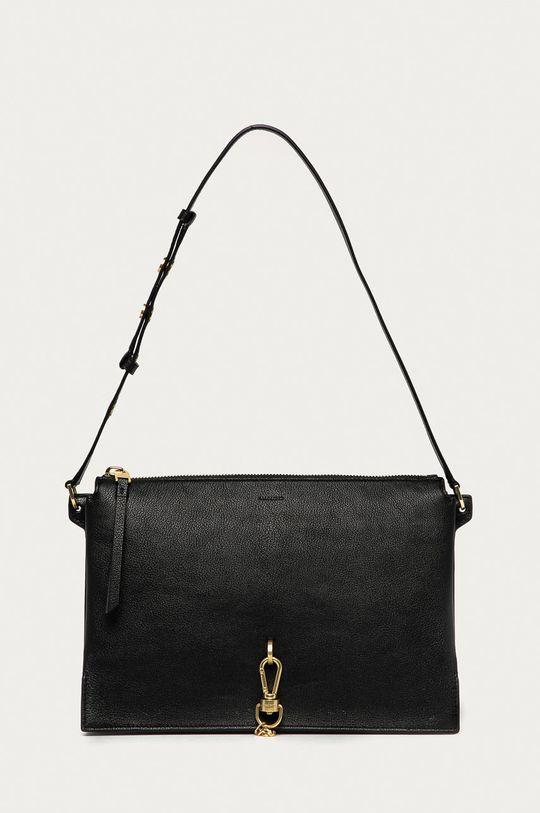 černá AllSaints - Kožená kabelka Sheringham Dámský