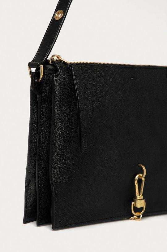 AllSaints - Kožená kabelka Sheringham černá