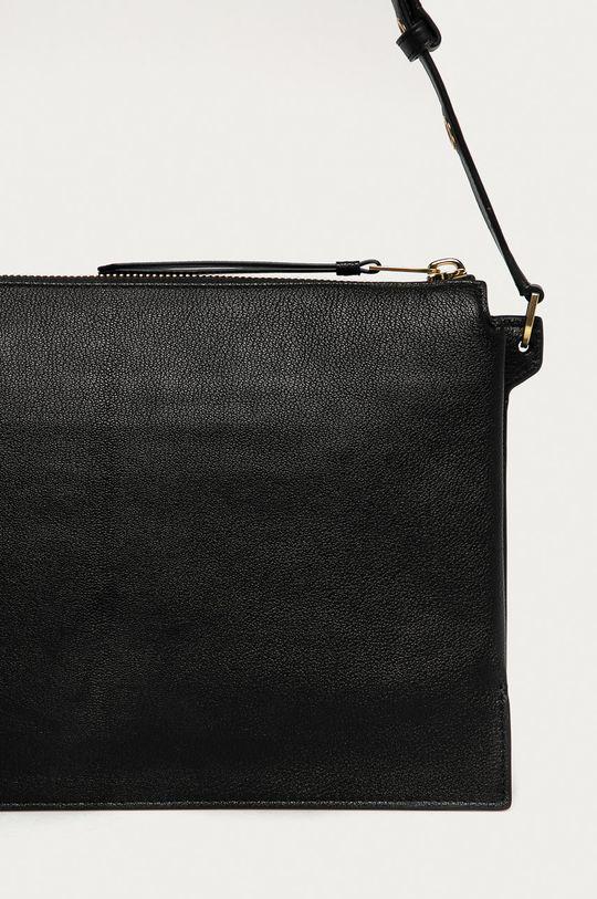 černá AllSaints - Kožená kabelka Sheringham