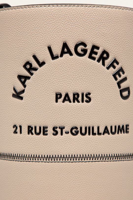 Karl Lagerfeld - Kožená kabelka písková