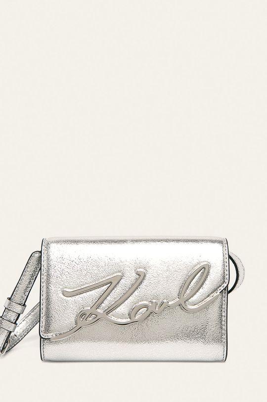 stříbrná Karl Lagerfeld - Kožená kabelka Dámský