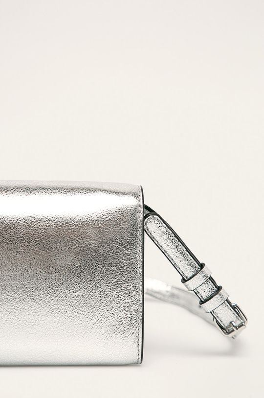 stříbrná Karl Lagerfeld - Kožená kabelka