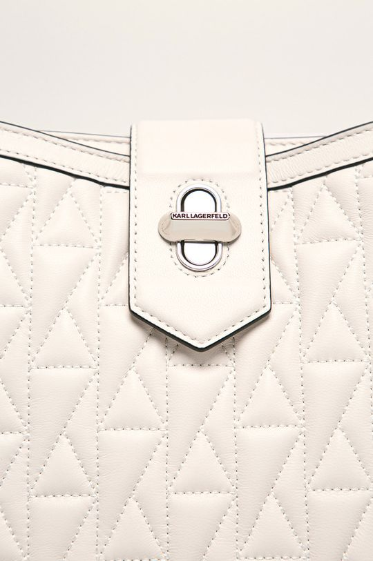 Karl Lagerfeld - Kožená kabelka bílá