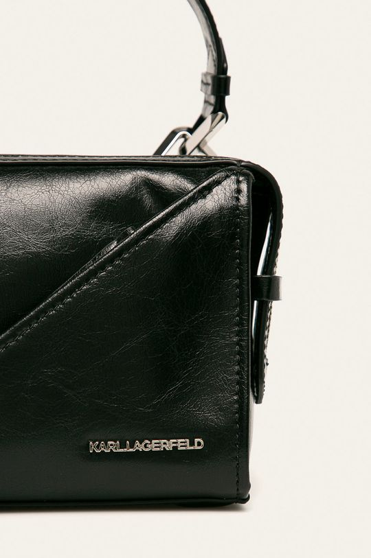 Karl Lagerfeld - Kožená kabelka černá
