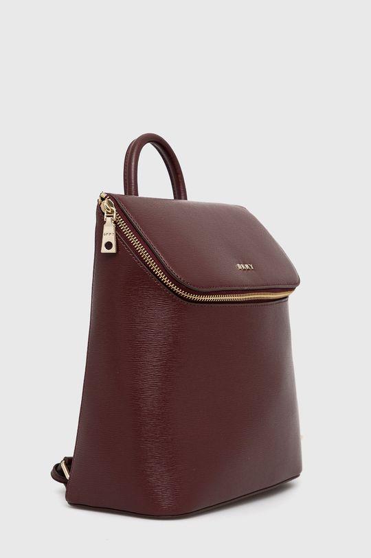 Dkny - Kožený batoh kaštanová