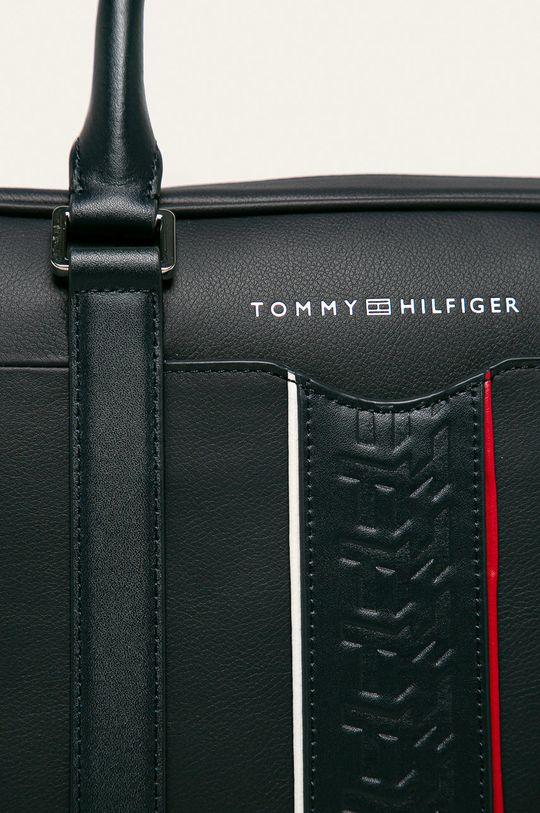 Tommy Hilfiger - Geanta de piele bleumarin
