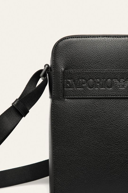 Emporio Armani - Kožená taška čierna
