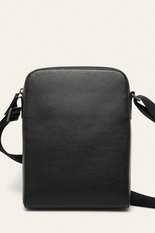 čierna Emporio Armani - Kožená taška