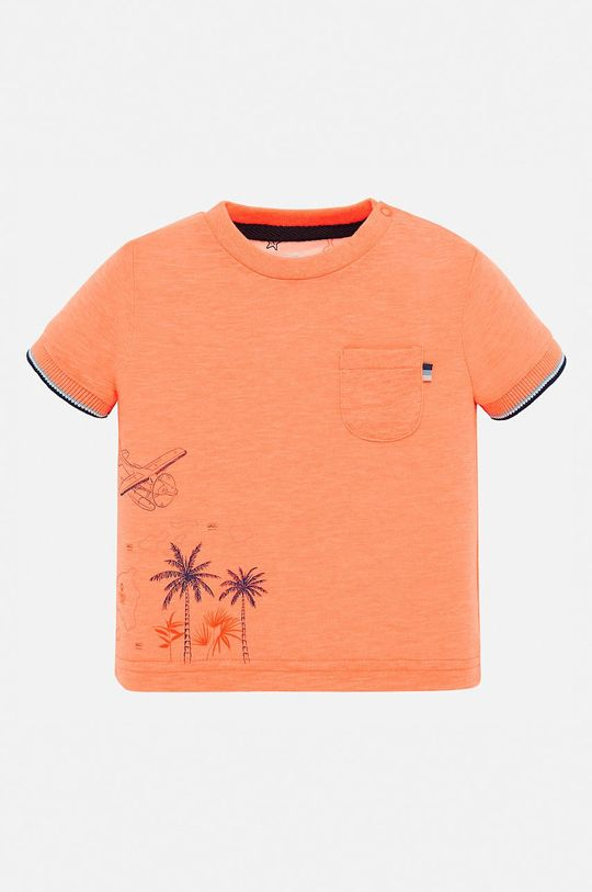mandarínková Mayoral - Detské tričko 68-98 cm Chlapčenský