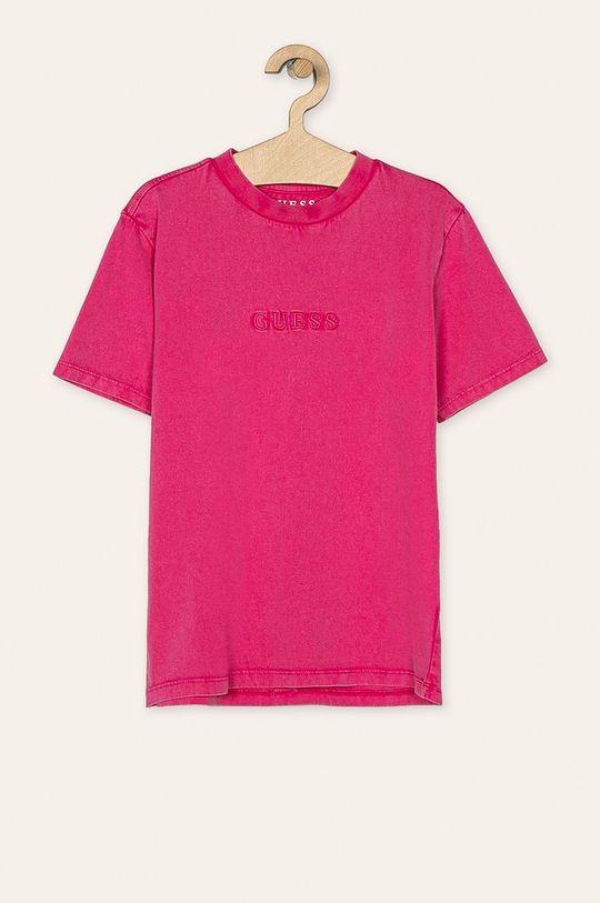 яскраво-рожевий Guess Jeans - Дитяча футболка 118-175 cm Для хлопчиків