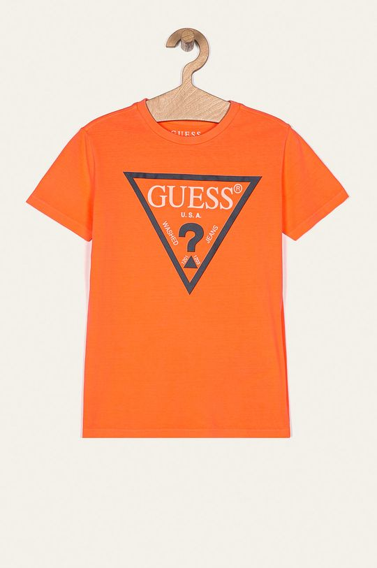 персиковий Guess Jeans - Дитяча футболка 104-175 cm Для хлопчиків