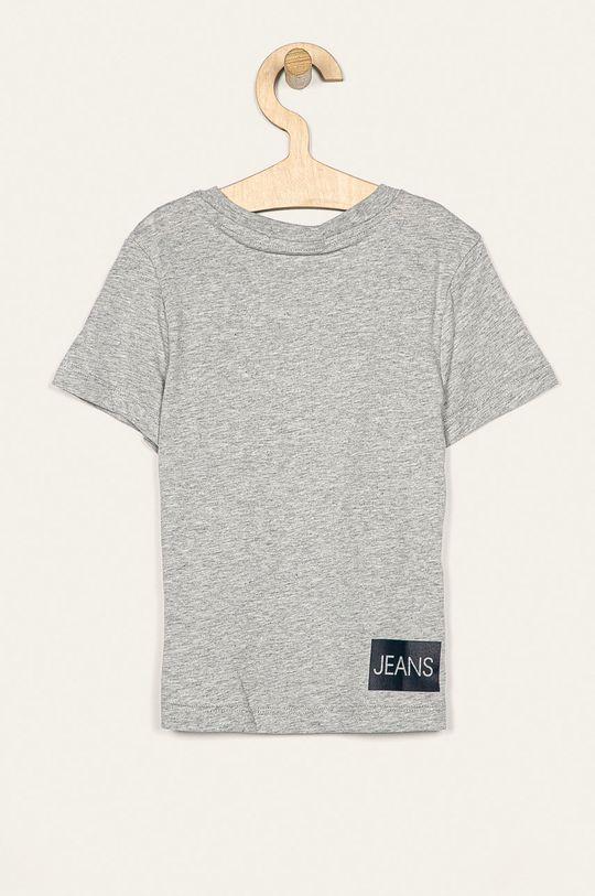 Calvin Klein Jeans - Tricou copii 104-176 cm gri deschis