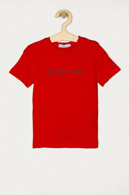 rosu Calvin Klein Jeans - Tricou copii 104-176 cm De băieți