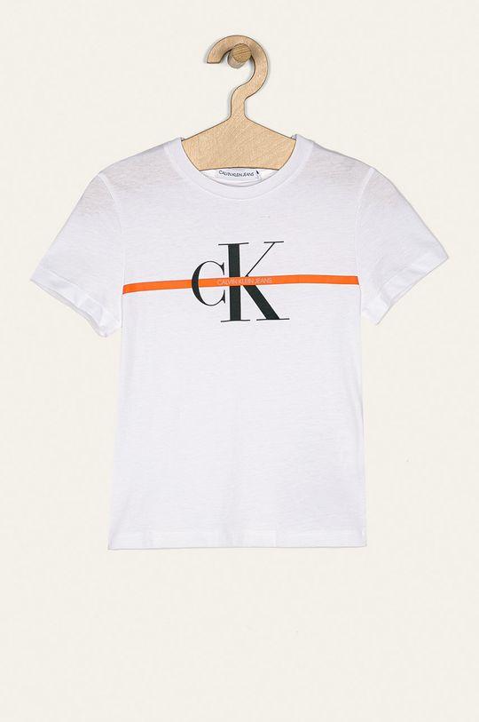 biela Calvin Klein Jeans - Detské tričko 116-176 cm Chlapčenský