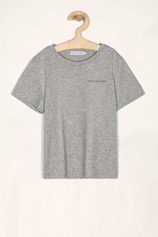 jasny szary Calvin Klein Jeans - T-shirt dziecięcy 116-176 cm Chłopięcy