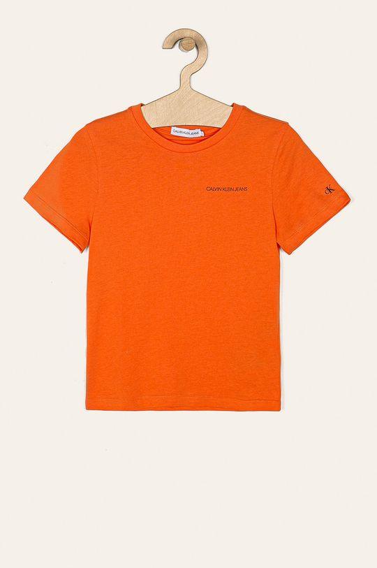 pomarańczowy Calvin Klein Jeans - T-shirt dziecięcy 116-176 cm Chłopięcy