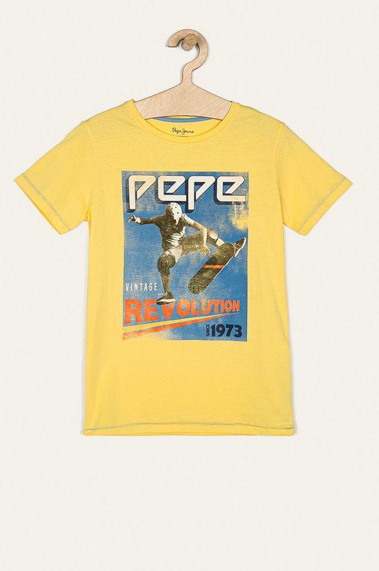 žltá Pepe Jeans - Detské tričko Basile 128-178/180 cm Chlapčenský