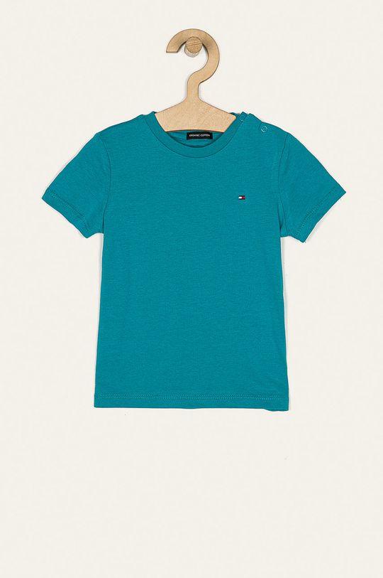 morski Tommy Hilfiger - T-shirt dziecięcy 86-176 cm Chłopięcy