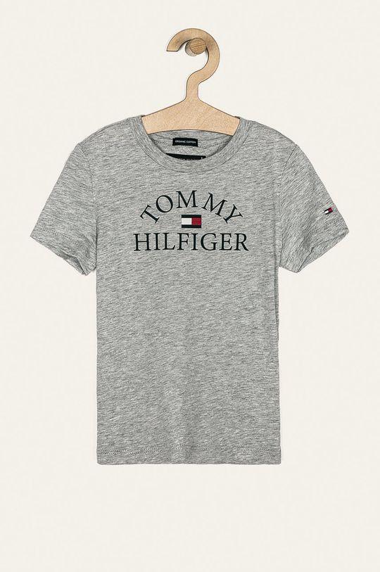 szary Tommy Hilfiger - T-shirt dziecięcy 104-176 cm Chłopięcy