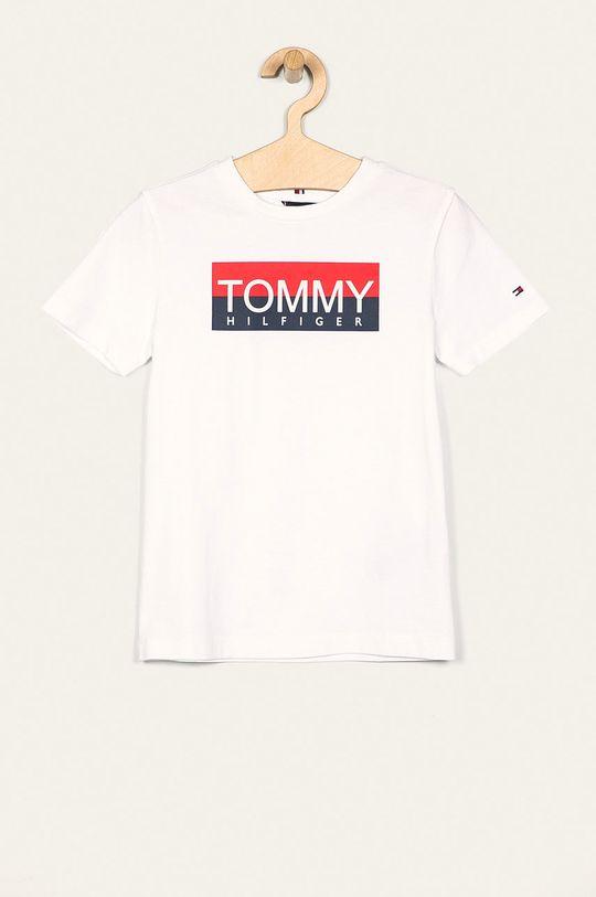 biały Tommy Hilfiger - T-shirt dziecięcy 128-176 cm Chłopięcy