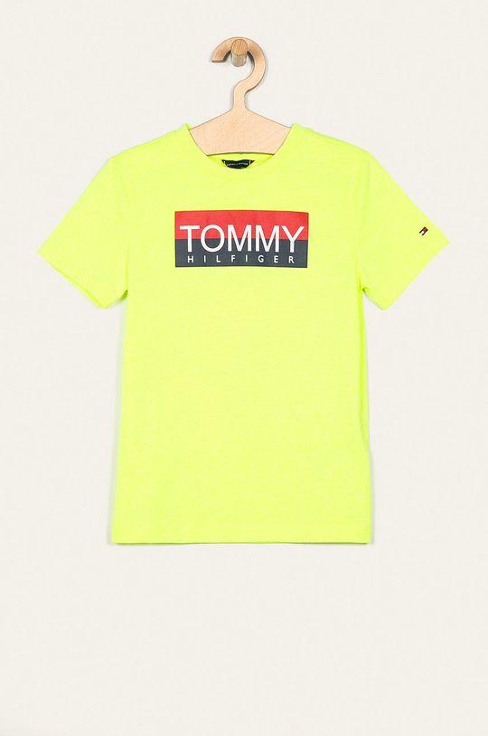 jasny żółty Tommy Hilfiger - T-shirt dziecięcy 128-176 cm Chłopięcy