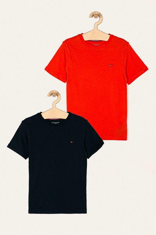 pomarańczowy Tommy Hilfiger - T-shirt dziecięcy (2-pack) 128-164 cm Chłopięcy