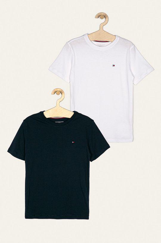 granatowy Tommy Hilfiger - T-shirt dziecięcy (2-pack) 128-164 cm Chłopięcy