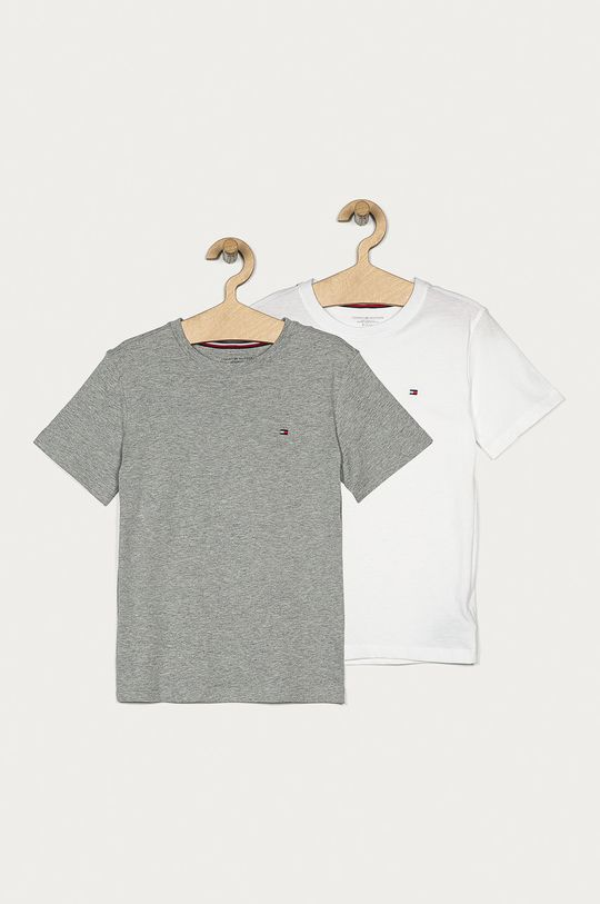 szary Tommy Hilfiger - T-shirt dziecięcy 128-164 cm (2-pack) Chłopięcy