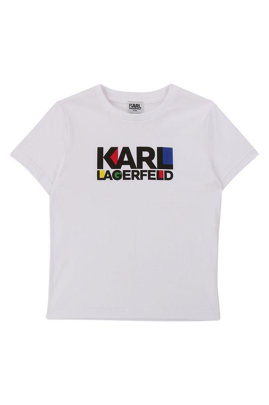 alb Karl Lagerfeld - Tricou copii 114-150 cm De băieți