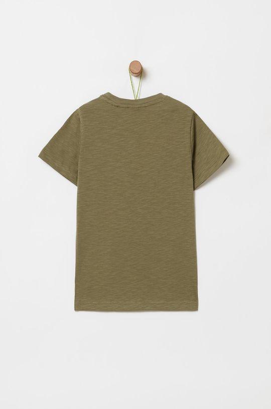 OVS - Detské tričko 104-140 cm tmavozelená