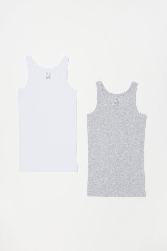 biela OVS - Detský top 128-164 cm (2-pak) Chlapčenský