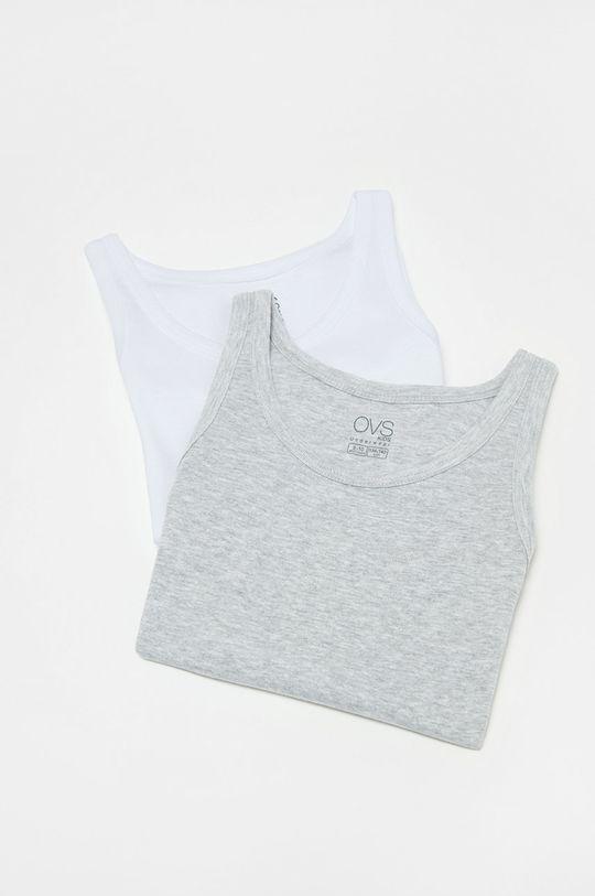 OVS - Detský top 128-164 cm (2-pak) biela